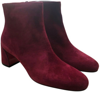 Christian Louboutin Red Suede Ankle boots