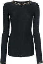 Maison Margiela studded bodysuit - women - Polyamide/Spandex/Elastane/Aluminium - 42