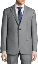 Hickey Freeman Classic-Fit Weave-Print Suit, Charcoal