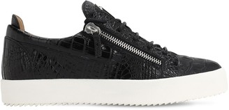 Giuseppe Zanotti May London Embossed Leather Sneakers