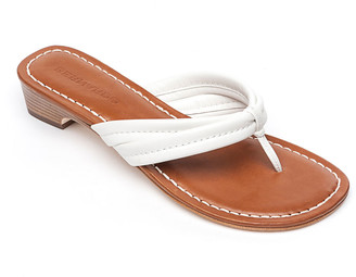 Bernardo Miami Flat Antiqued Leather Thong Sandals