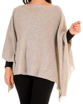 Black Dove Grey Batwing Cashmere Poncho
