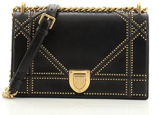 Christian Dior Diorama Flap Bag Studded Leather Medium