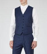 Reiss Reiss Harry W - Modern Fit Waistcoat In Blue