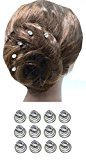 "B.ella Dozen Pack Hair Twists with Solitaire Crystal 5/8"" in diameter BU863175-solht-Dcrystal"