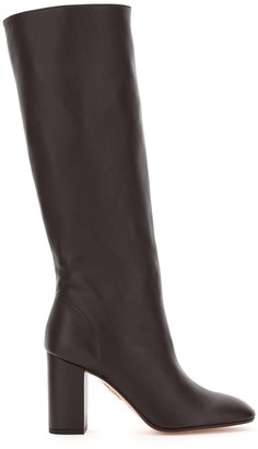Aquazzura BOOGIE BOOTS 85 40 Brown Leather