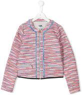 Karl Lagerfeld tweed jacket - kids - Cotton/Polyester/Wool/Metallic Fibre - 14 yrs