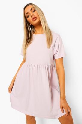 boohoo Short Sleeve Smock Dress