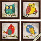 Rooms To Go Owls Set of 4 Artwork