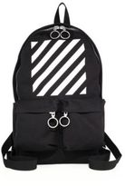 Off-White Printed Medium Calf Leather Detailed Backpack