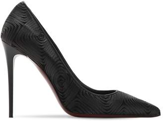 Ernesto Esposito 105MM TULLE & NAPPA LEATHER PUMPS
