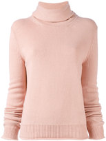 Nina Ricci open back roll neck top - women - Lambs Wool - S