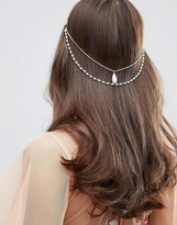 Asos Occasion Faux Pearl Hair Back Chain
