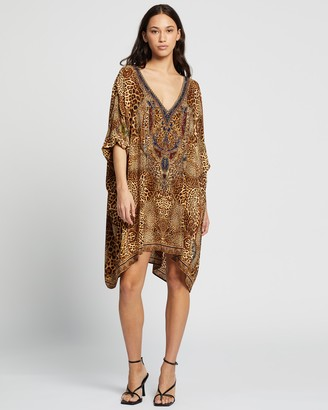 Camilla Women's Brown Midi Dresses - Short Kaftan With Cuffs - Size One size at The Iconic