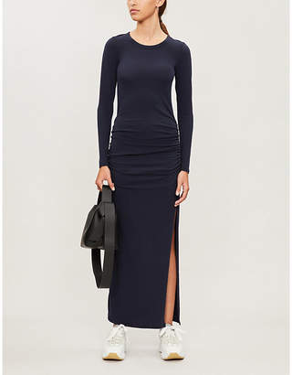 James Perse Round-neck stretch-cotton maxi dress