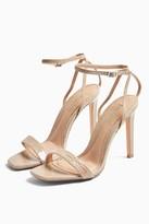 Topshop Womens Saskia Skinny 2 Part Heels - Natural