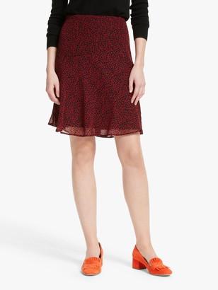 Boden Astolat Leopard Print Skirt, Poinsettia