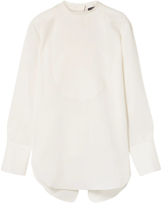 Theory Split-back Linen Blouse