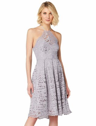 Amazon Brand - TRUTH & FABLE Women's Lace Halter Dress