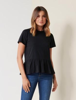 Forever New Joanne Smock T-Shirt - Black - s