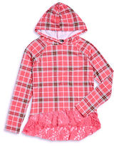 Planet Gold Girls 7-16 Plaid Hooded Pullover