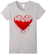 Men's Broken Heart Shirts, Bloody Heart in Valentine's Day T-shirt XL