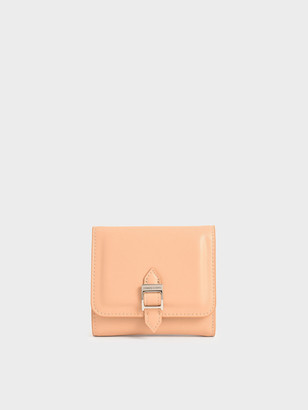 Charles & Keith Croc-Effect Buckle Strap Short Wallet