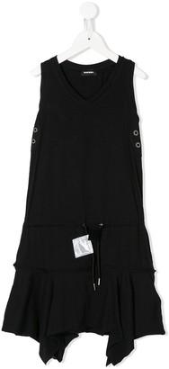Diesel Asymmetric Hem Cotton Dress