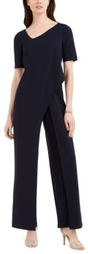 Adrianna Papell Asymmetrical Draped Jumpsuit