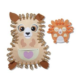 Melissa & Doug Loop It! Cuddly Kangaroos Beginner Craft Kit Felt Kangaroo and Baby Joey
