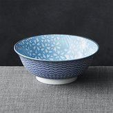 "Crate & Barrel Kiso 8"" Noodle Bowl Light Blue"