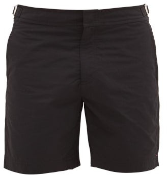 Orlebar Brown Bulldog Mid-length Swim Shorts - Mens - Black