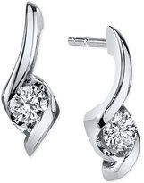 Sirena Diamond Twist Drop Earrings (1/5 ct. t.w.) in 14k White Gold