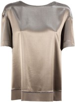 Fabiana Filippi Bronze Silk Satin Top