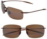Maui Jim Women's 'Breakwall - Polarizedplus2' 63Mm Rimless Sunglasses - Root Beer