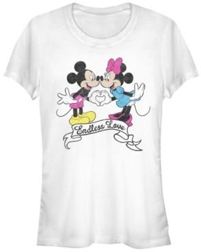 Fifth Sun Women's Disney Mickey Classic Endless Love Short Sleeve T-shirt