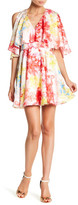 Jay Godfrey Cold Shoulder Floral Skater Dress
