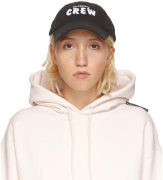 Balenciaga Black Crew Cap