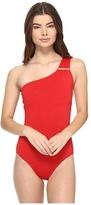MICHAEL Michael Kors Villa Del Mar Logo Bar One-Shoulder One-Piece Women's Swimsuits One Piece