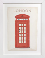 Minted Telephone Box Art Print