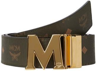 MCM Claus Reversible Belt (Black) Men's Belts