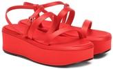The Row Satin platform sandals