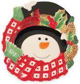 Fitz & Floyd Holly Berry Snowman Canapé Plate