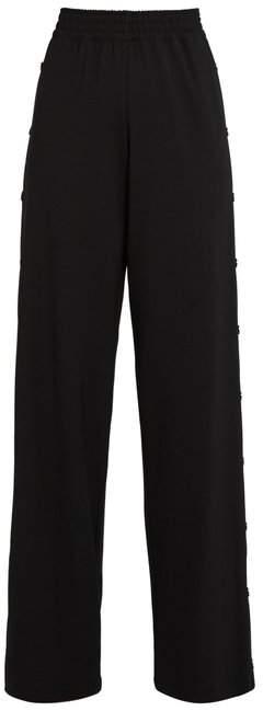 Maison Margiela Wide-leg stretch wool-gabardine trousers