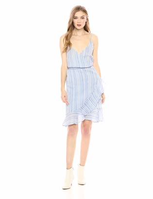 Vero Moda Women's Summer Striped Short Wrap Dress