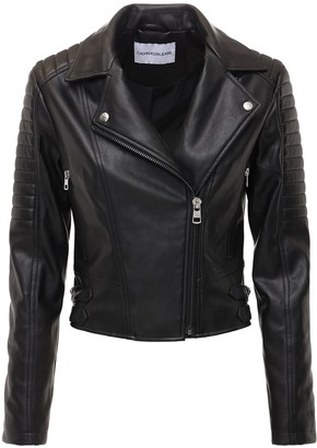 Calvin Klein Jeans Faux Leather Biker Jacket