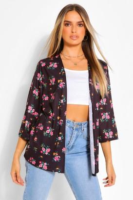 boohoo Ditsy Floral Print Kimono