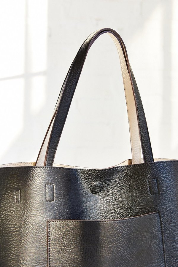 Urban Outfitters Reversible Faux Leather Tote Bag