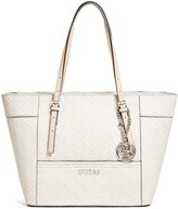 GUESS Delaney Logo-Embossed Small Classic Tote