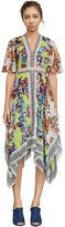 BCBGMAXAZRIA Roselle Abstract-Print Handkerchief Dress